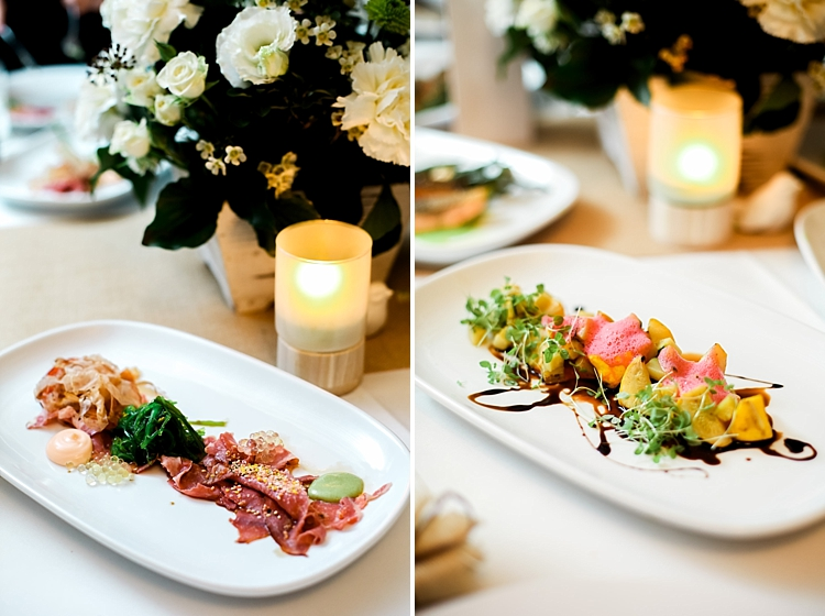 000027 Brisbane Fine Art Wedding Photograph of reception degustation menu and antipaso dish.jpg