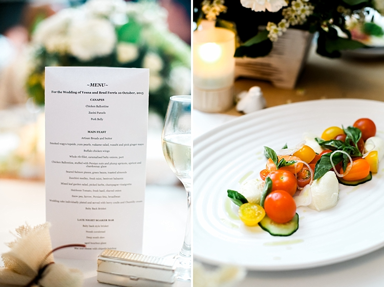 000027 Brisbane Fine Art Wedding Photograph of reception degustation menu and vegetarian paelle.jpg