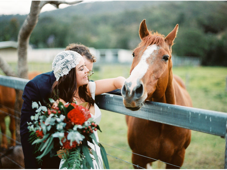 bouquet-flowers-bride-farm-fine-art-wedding-photographer-gold-coast-groom-headpiece-beanie-horse-jennifer-gifford-designs-oreillys-oreillys-valley-vineyard.jpg
