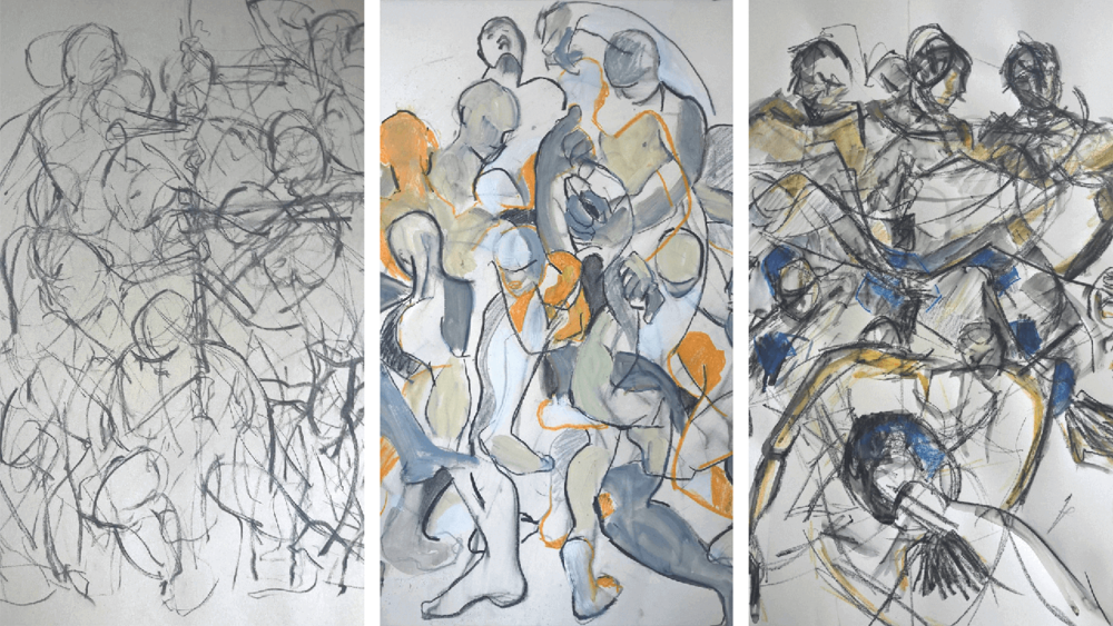 Roy Joseph Butler life model sketches (artists unknown)
