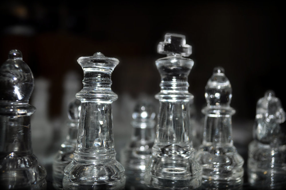 Reference: glass chess set