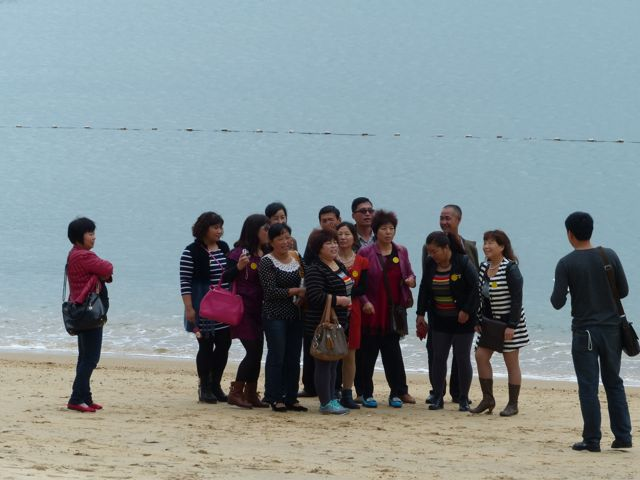 ... to a quiet beach (with very well dressed Mainland China tourists)