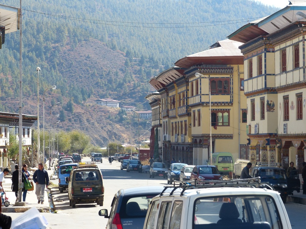 Main drag of Paro