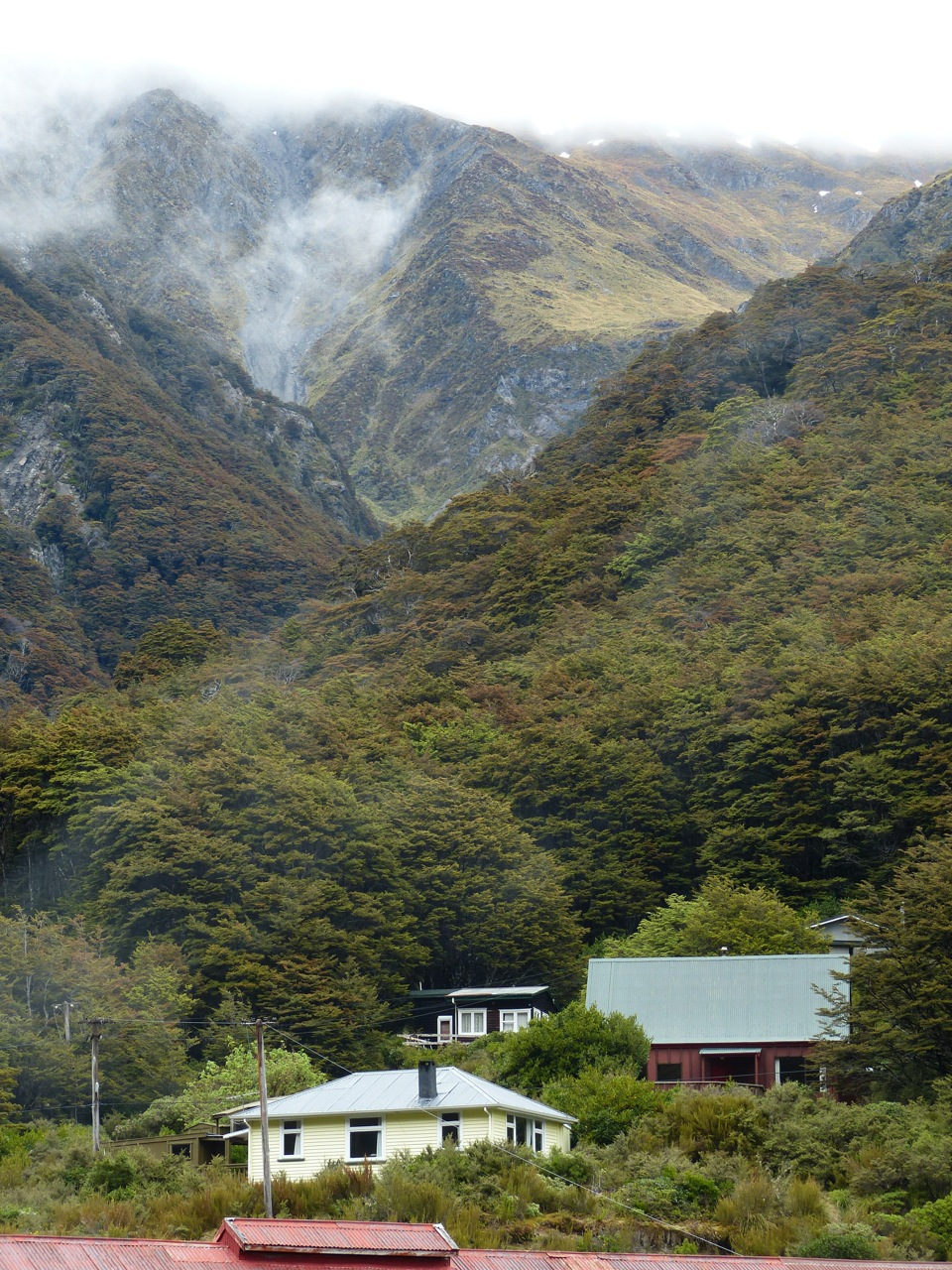 Arthurs Pass -- pass in the Southern Alps marking the separation between east and west