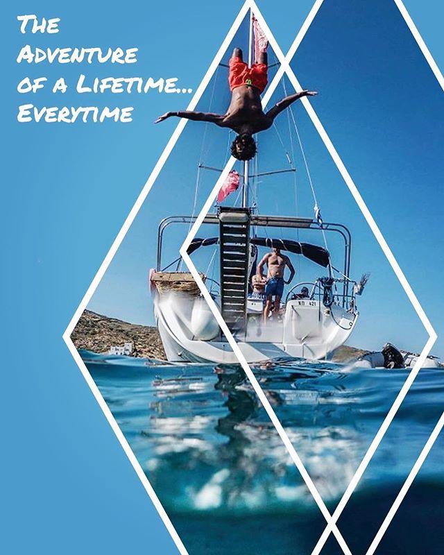 ⛵️Live for the #adventure⚓️🇬🇷 #welivetoexplore #sailaway #greekislands #greece2018 #europe2018 #sailingholiday #sailinglife #thegreatoutdoors #backflip #beneteau #yachtlife #beachbum #hellas #naxos #paros #mykonos #santorini #iraklia #koufonisia #iosisland #cyclades #lifestyleblogger #otbt  #offthebeatentack #soulstepper