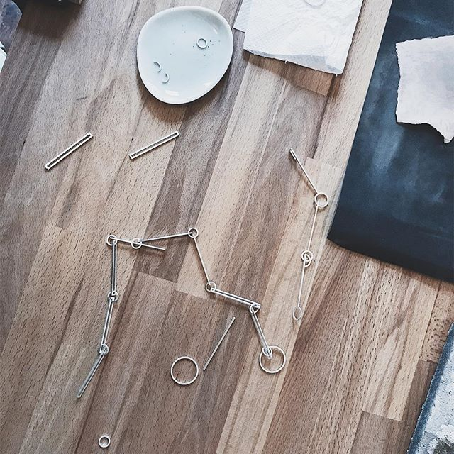Putting pieces together, pulling them apart, then rearranging - it's like a puzzle really... . . . #yashabutler #minimal #minimalstyle #slowfashion #jewelry