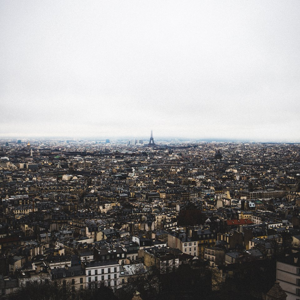 Paris from a top Montmartre