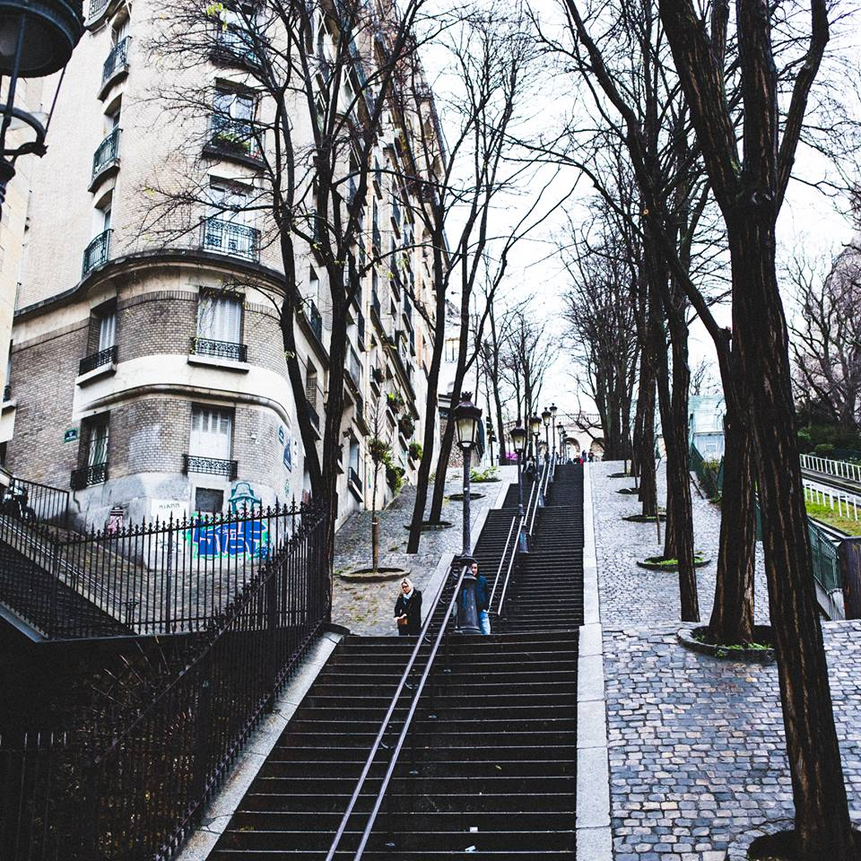 On the way up to Montmartre
