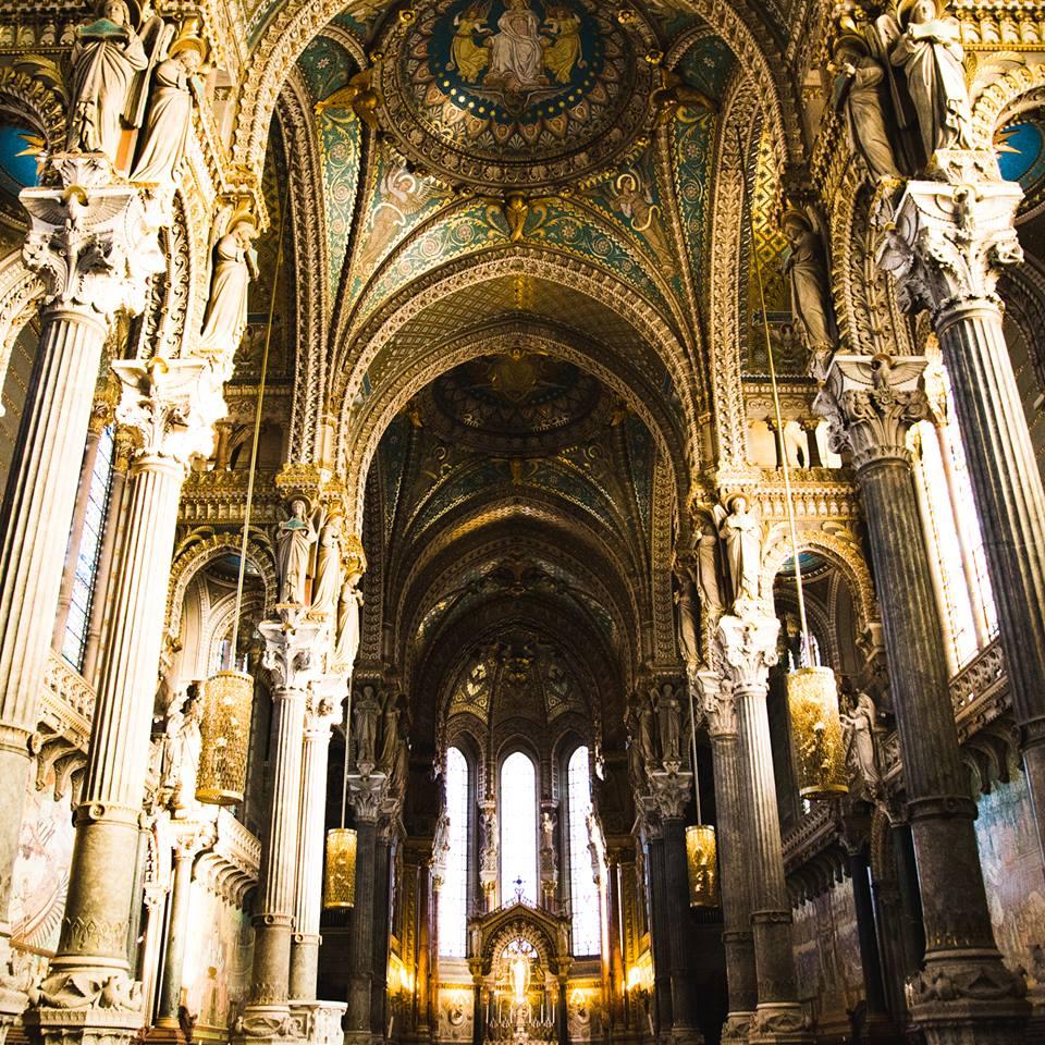 Inside La Basilique Notre Dame de Fourvière