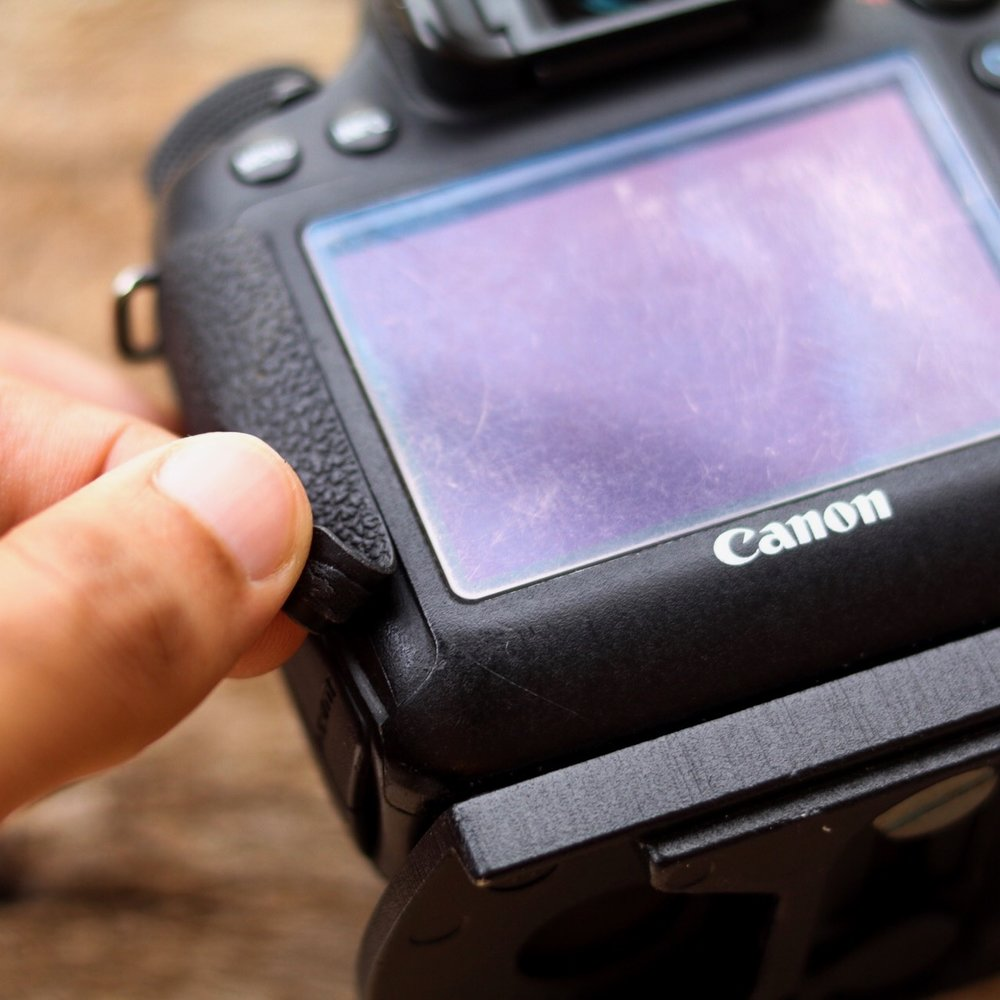 Canon eos 6d rubber issue