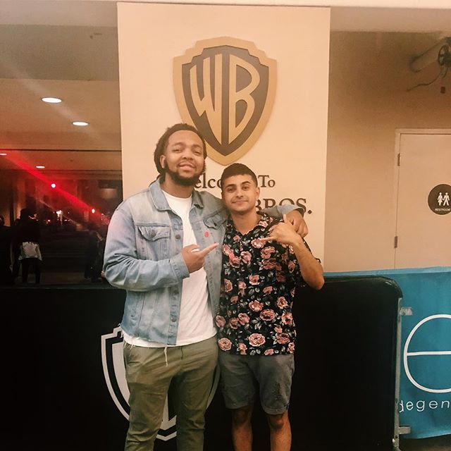 With my brother @adamgharibdp at a private screening of one of his short films he was part of. I'm so proud of this dude and the consistent hard work he has done since we touched down in Cali. Honored to be able to take over this industry with this guy.  #Inspire