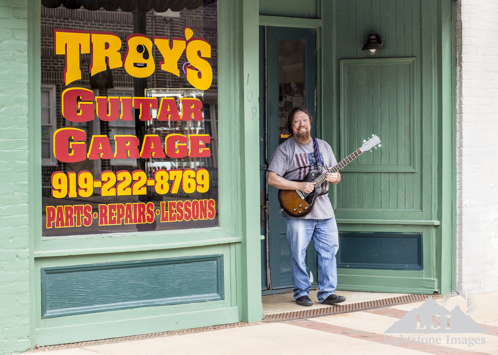 Troy at his shop in Fremont, NC