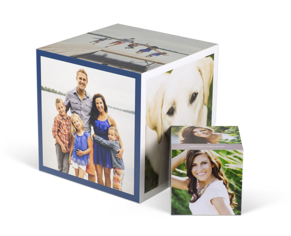 IMAGE CUBE   This six-sided dimensional product is a fun way to display your favorite images. Being multifaceted, an Image Cube is a handy way to express a theme.