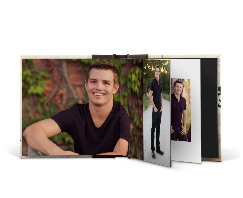 ALBUM   An Album is a five-spread keepsake that allows your story to shine through images.  Choose from numerous cover options to fit your style.