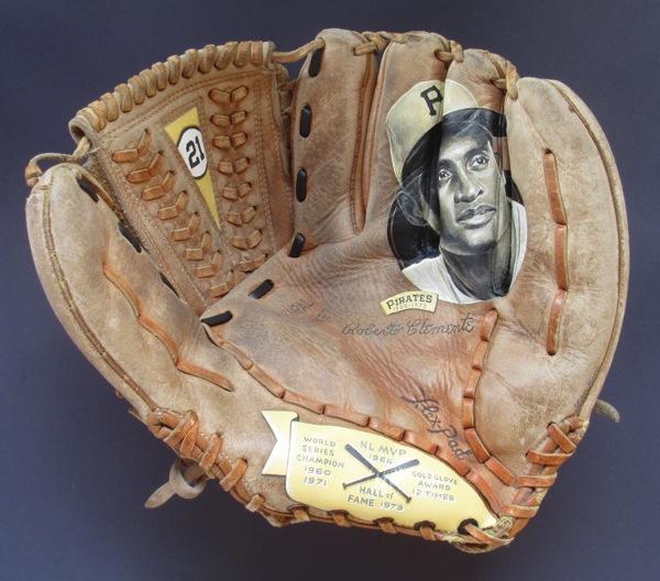Baseball Glove Paint : Roberto clemente baseball glove painting — sean kane