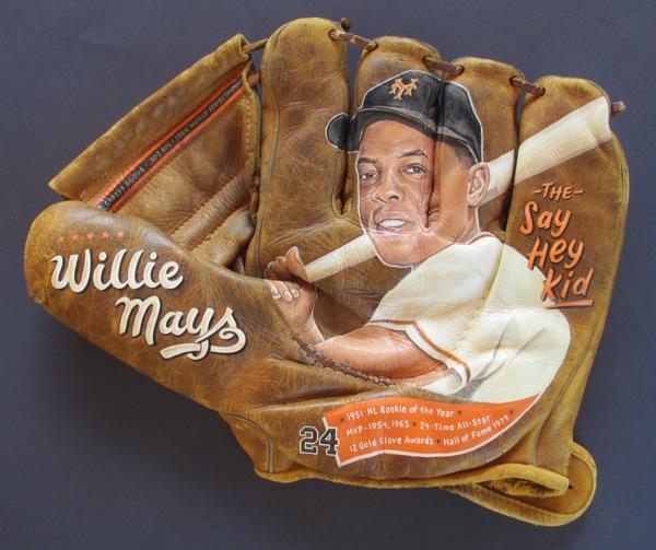 Baseball Glove Painting : Willie mays baseball glove painting — sean kane
