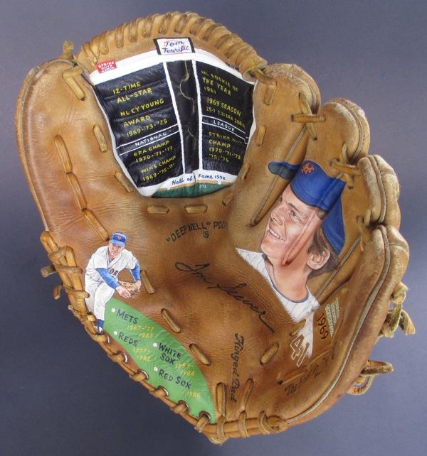 Baseball Glove Painting : Tom seaver baseball glove painting — sean kane