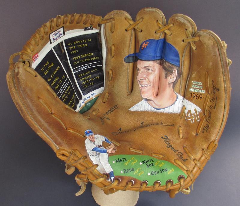 Baseball Glove Painting : Shop — sean kane baseball art painted glove collectibles