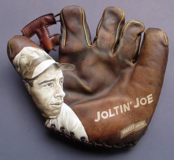 Baseball Glove Paint : Joe dimaggio baseball glove painting — sean kane