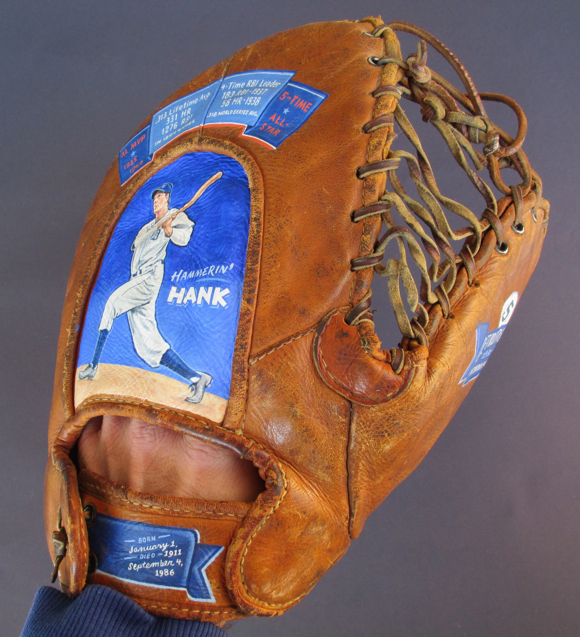 Baseball Glove Paint : Hank greenberg baseball glove painting — sean kane