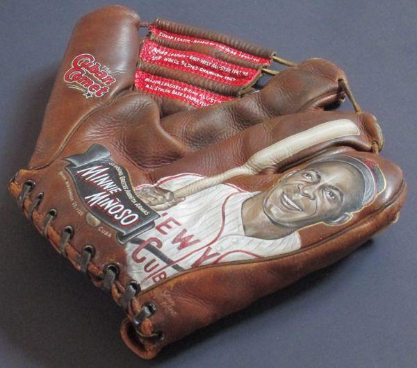 Baseball Glove Paint : Minnie minoso baseball glove painting — sean kane
