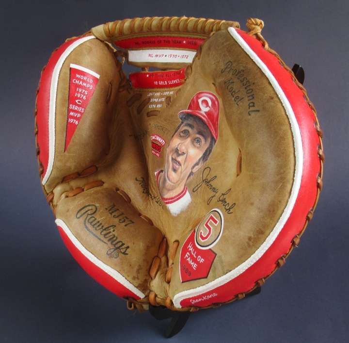 (Photo of glove before it was autographed.)