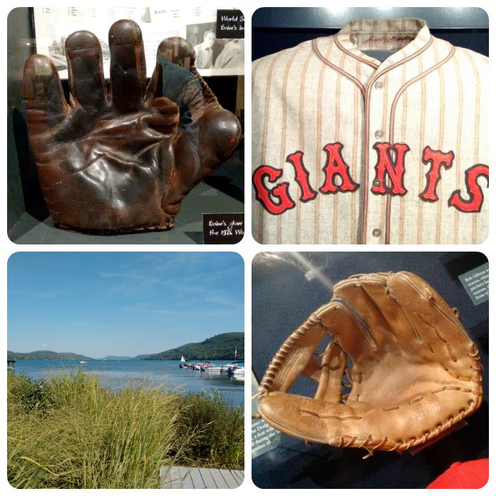 Ruth's glove, McGraw's Giants uniform, Lakeside Cooperstown, Bob Gibson's glove (which, interestingly, is a Carl Yastrzemski model glove!).