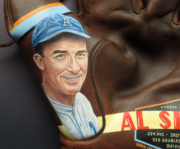 Sean-Kane-Al-Simmons-baseball-glove-art-portrait