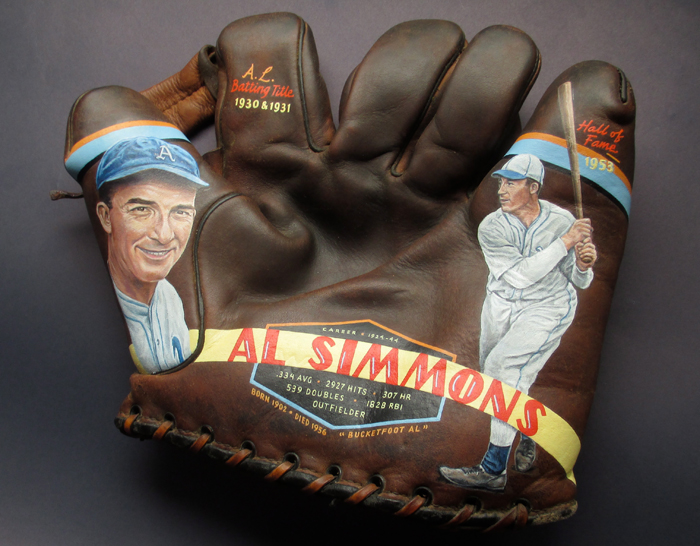 Sean-Kane-Al-Simmons-baseball-glove-art-side