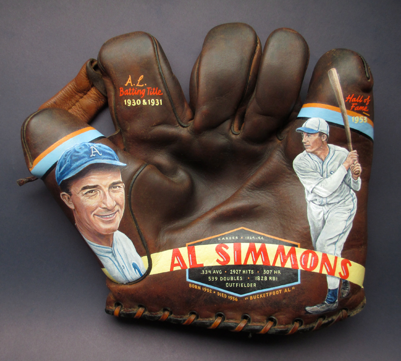 Baseball Glove Painting : Select glove paintings in private collections — sean kane