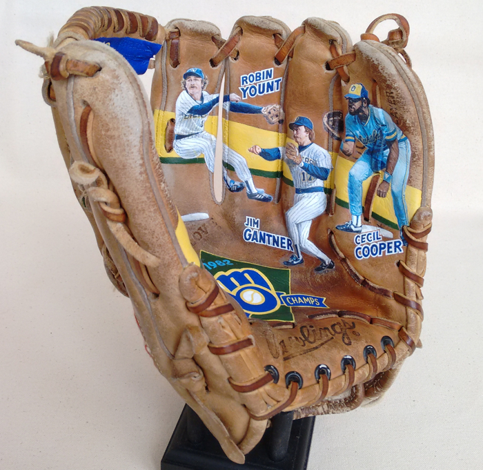 1982 Brewers Infielders featured on Painted Glove art by Sean Kane.