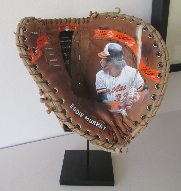 Sean-Kane-Eddie-Murray-Baseball-Glove-Art-on-stand-5.jpg