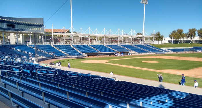 Maryvale Stadium, Phoenix, getting ready for Brewers Fantasy Camp game.