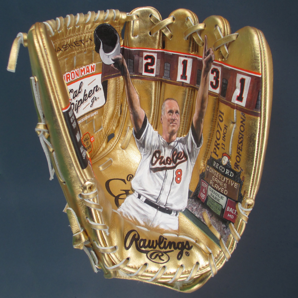 Cal Ripken on Gold Glove for Ripken Foundation [SOLD]  info >