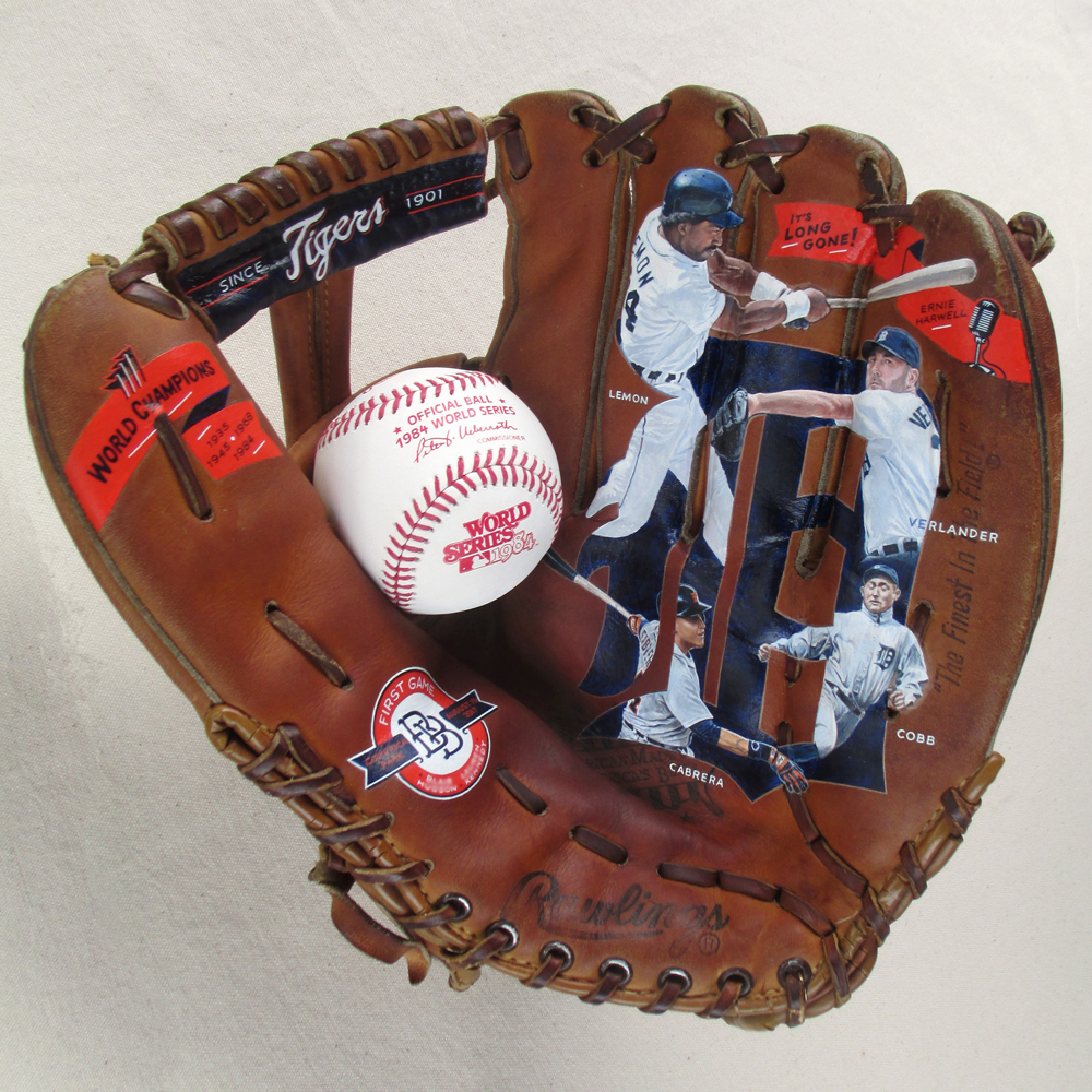 Detroit Tigers Favorites Glove Art [SOLD] Info >