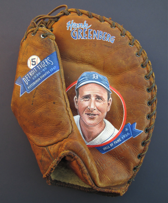 Hank Greenberg (Front of 2-sided Painting) [SOLD]  info >