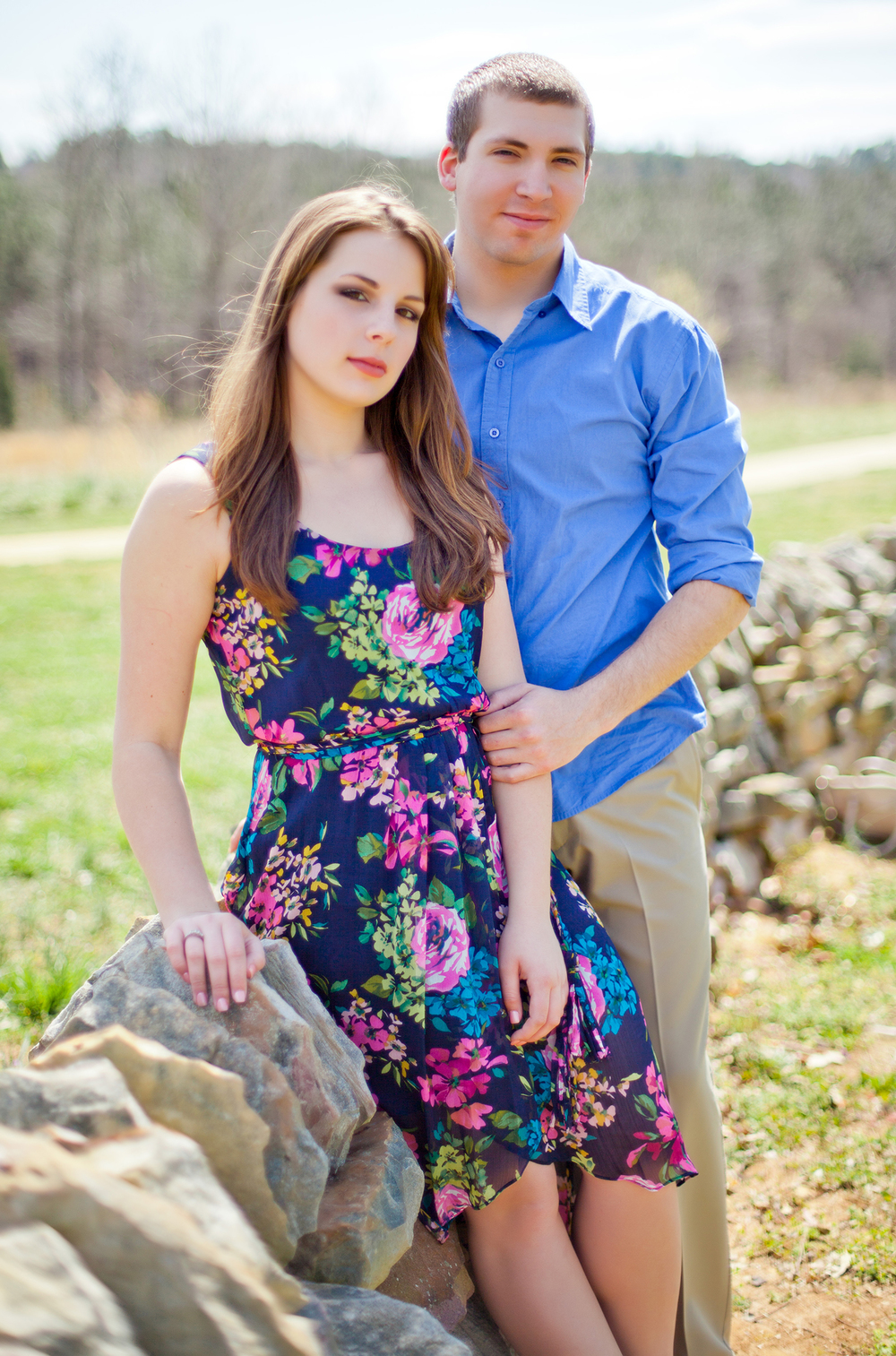 Vibrant Engagement Photography in Wake Forest, NC