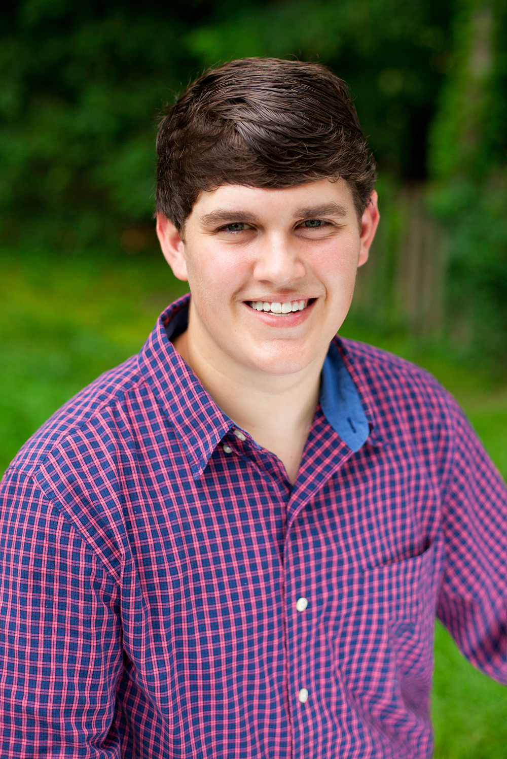 A Modern Headshot of a Senior Guy in Durham