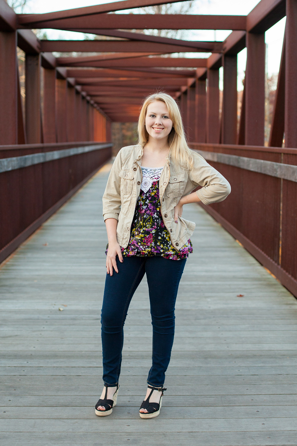 Woodland Senior Portrait Photography in Durham