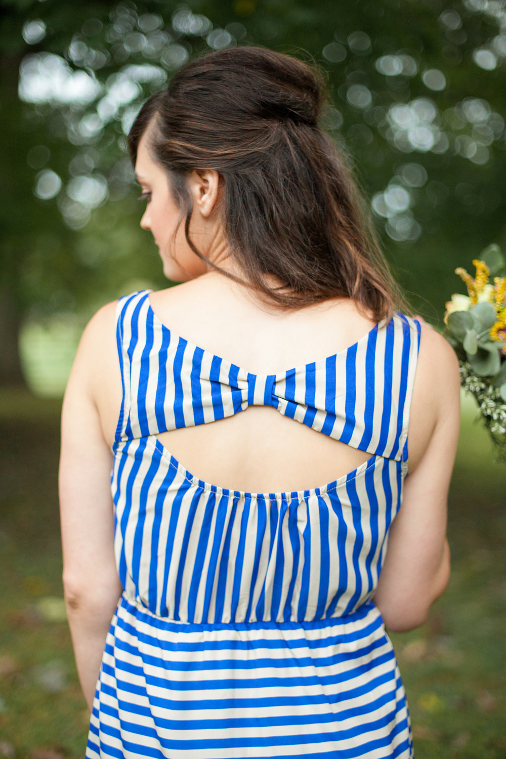 Royal Blue Bow-back Dress by LaMaLu Boutique