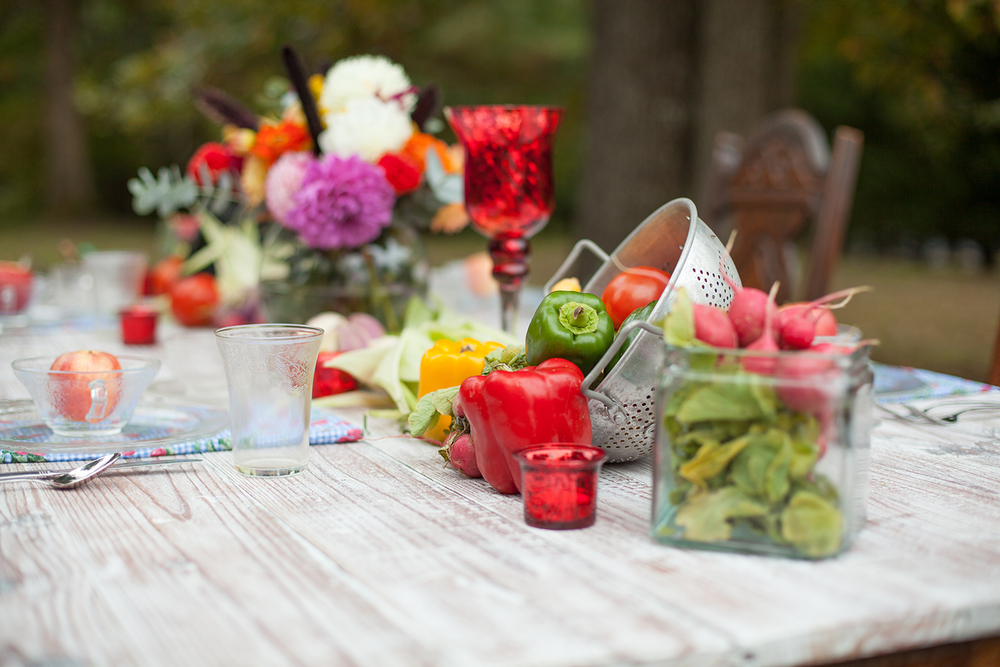 Farm & Vegetable Wedding Decor Ideas in North Carolina