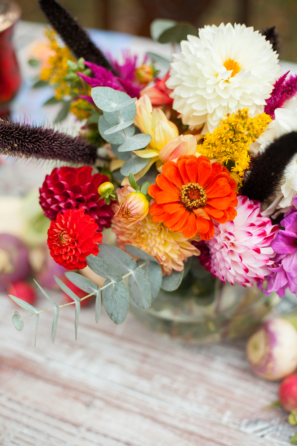 Multicolor Fall Bridal Bouquet in NC