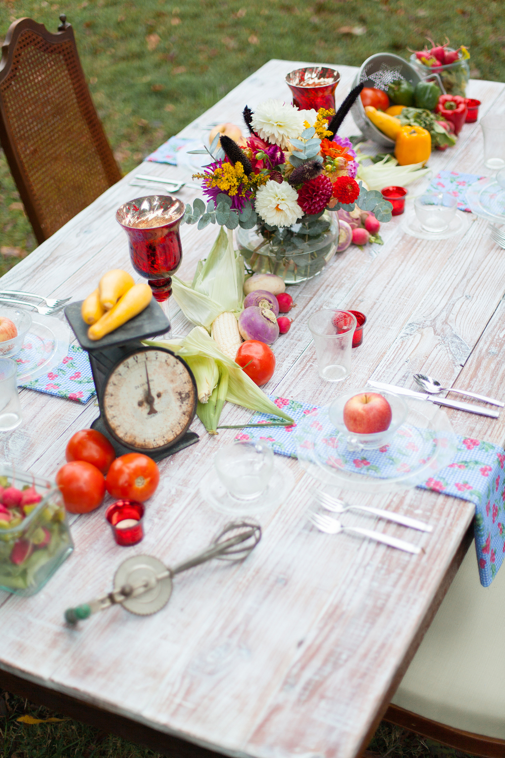 Colorful Wedding Table Setting by Ashlee Little
