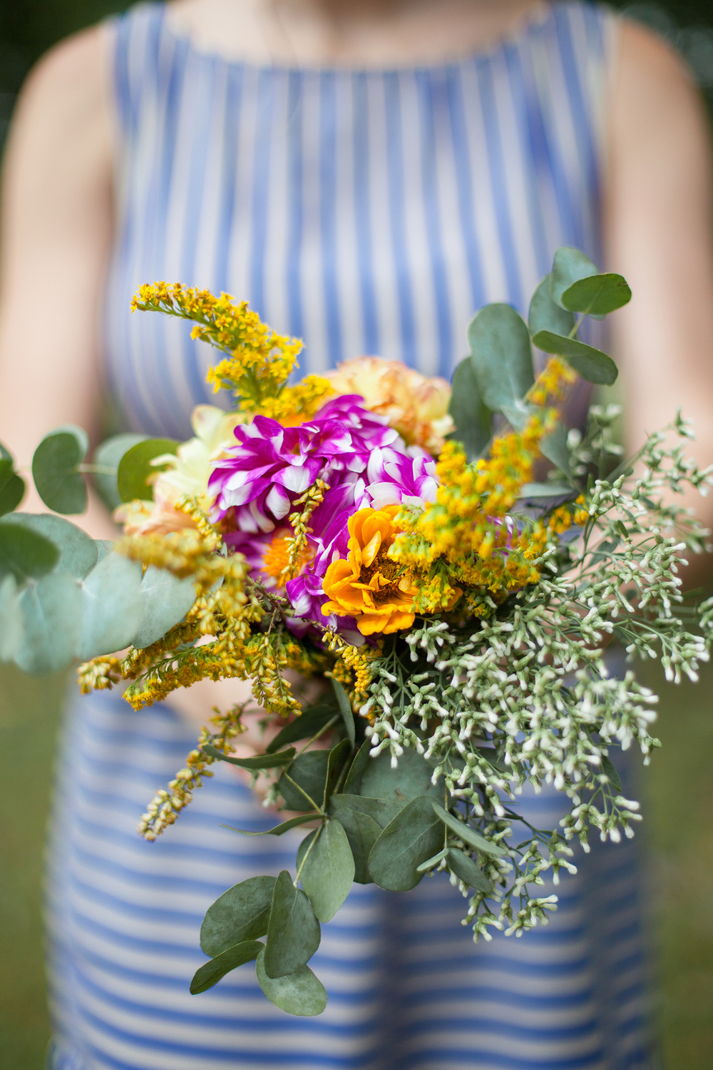 Orchid & Yellow Bouquet Inspiration in NC
