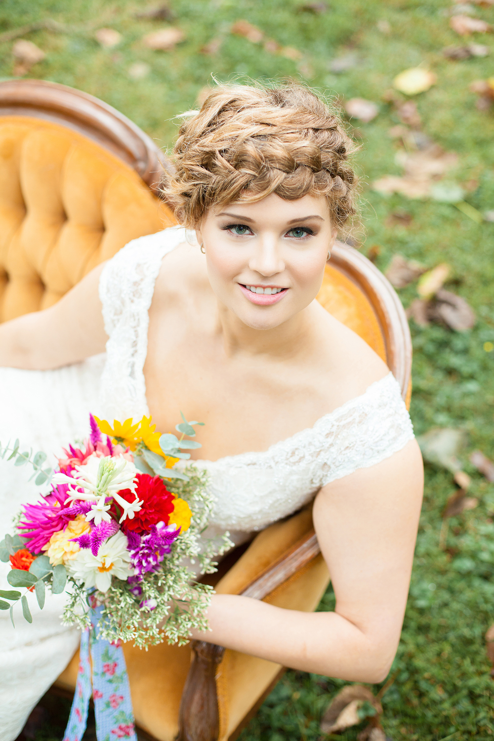 A Beautiful Bridal Portrait near Arrowhead Inn in Durham, North Carolina