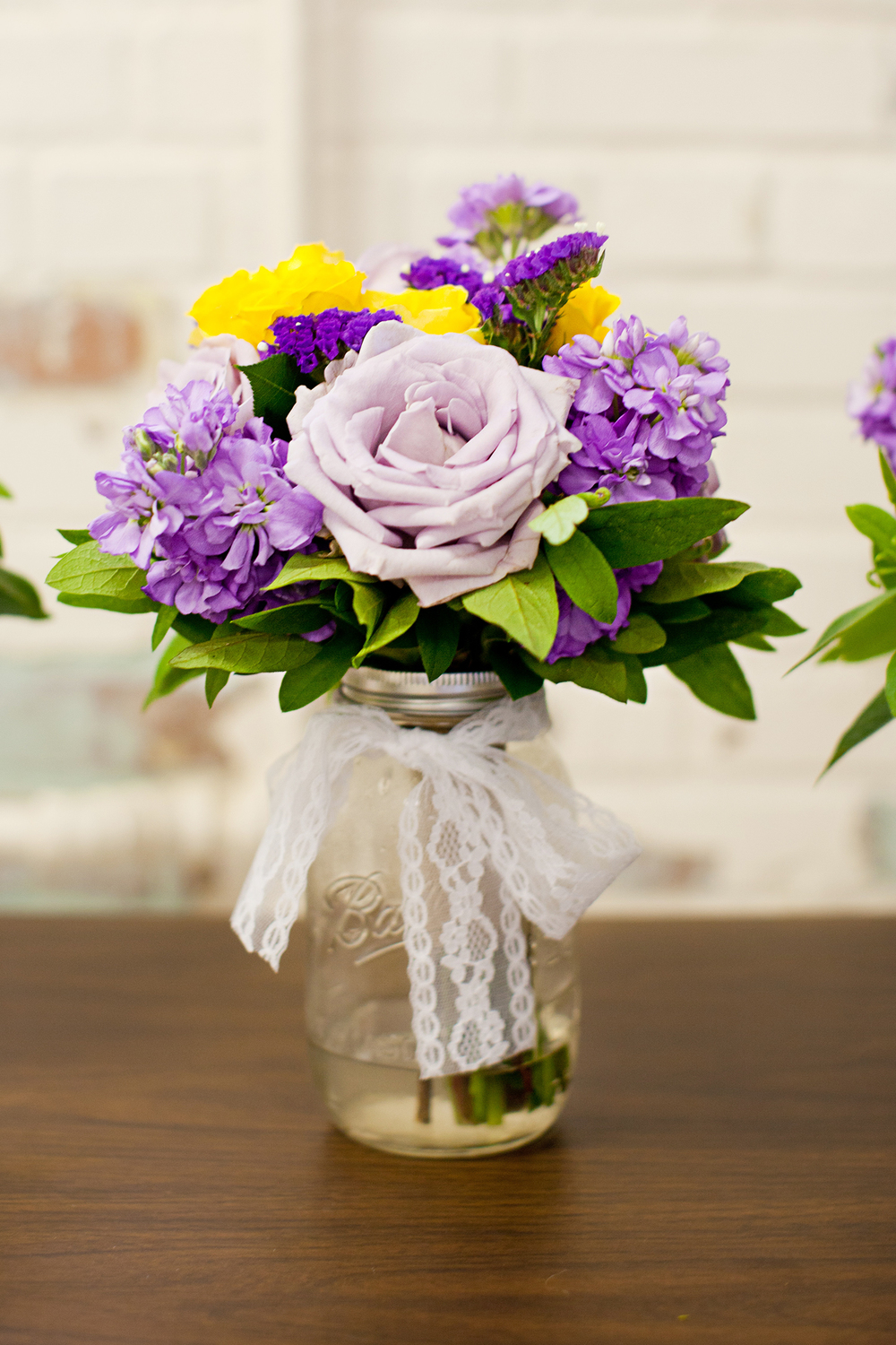 Purple Rose Bouquet by Array Designs