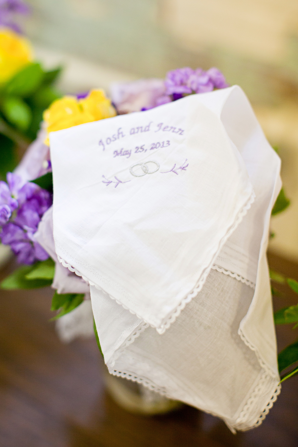 Custom Wedding Handkerchief in Raleigh