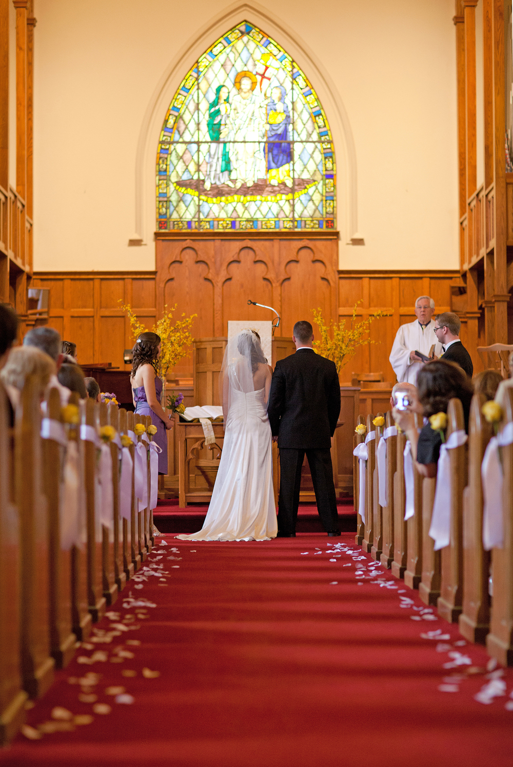 A Wedding Ceremony at Fairmont United Methodist Church