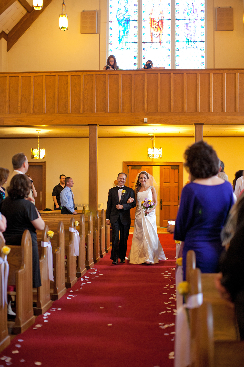 A Bride Walking Down the Aisle at FUMC