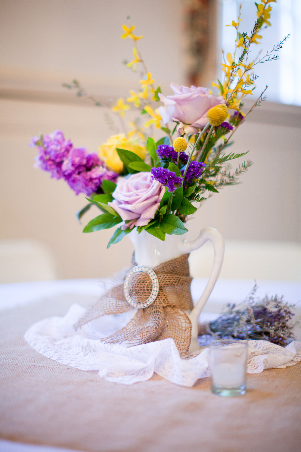 A Purple & Yellow Centerpiece